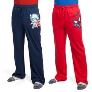 Marvel NWT Mens 2XL lounge pants, Spider/Captain